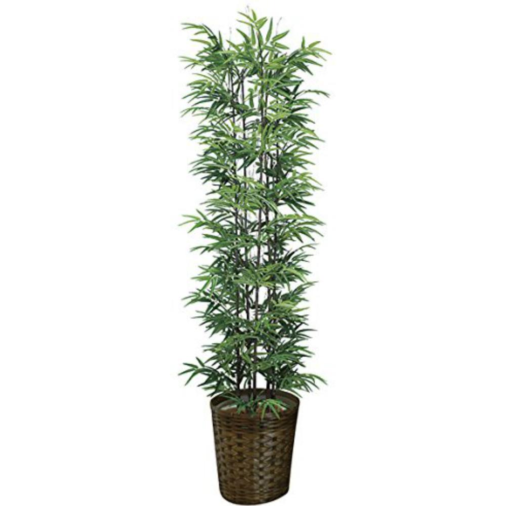 光触媒 人工観葉植物 造花 フェイクグリーン 光の楽園 黒竹 1.8m (幹:天然黒竹) おしゃれ インテリア 大型 和風 775A450