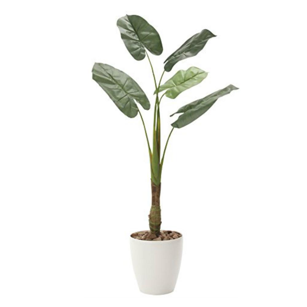 光触媒 人工観葉植物 造花 フェイクグリーン 光の楽園 くわず芋 1.35m おしゃれ インテリア 大型 730A240