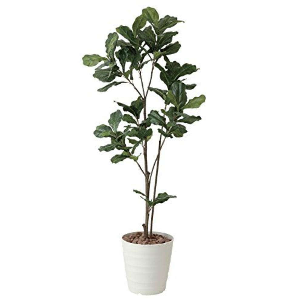 光触媒 人工観葉植物 造花 フェイクグリーン 光の楽園 カシワバゴム 1.8m おしゃれ インテリア 大型 422A280