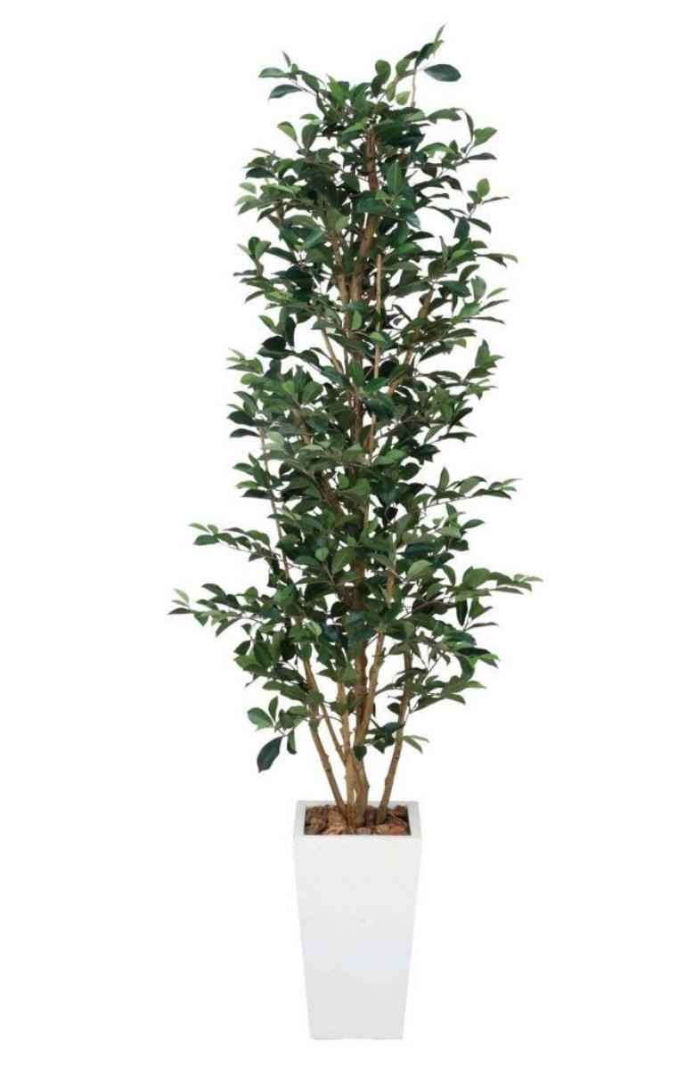光触媒 人工観葉植物 造花 フェイクグリーン 光の楽園 ガジュマルタワー 1.8m おしゃれ インテリア 大型121B550