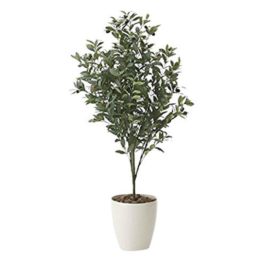 光触媒 人工観葉植物 造花 フェイクグリーン 光の楽園 オリーブ 1.1m おしゃれ インテリア 大型 617A180