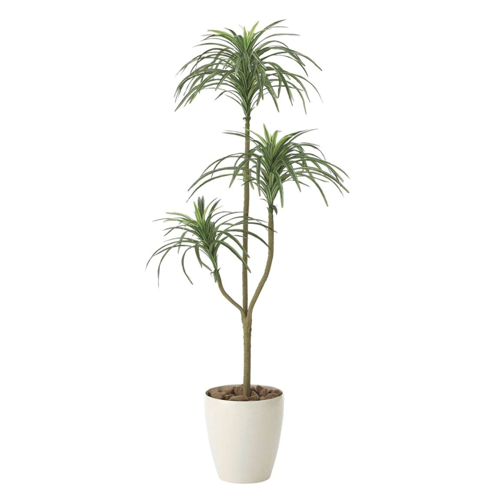 光触媒 人工観葉植物 造花(フェイクグリーン・フェイクフラワー)光の楽園 ユッカ 1.3m 612A150お部屋の消臭・抗菌・防汚効果があります。水やり・お手入れ不要置くだけで素敵な癒し空間約 幅50×奥行50×高さ130cm