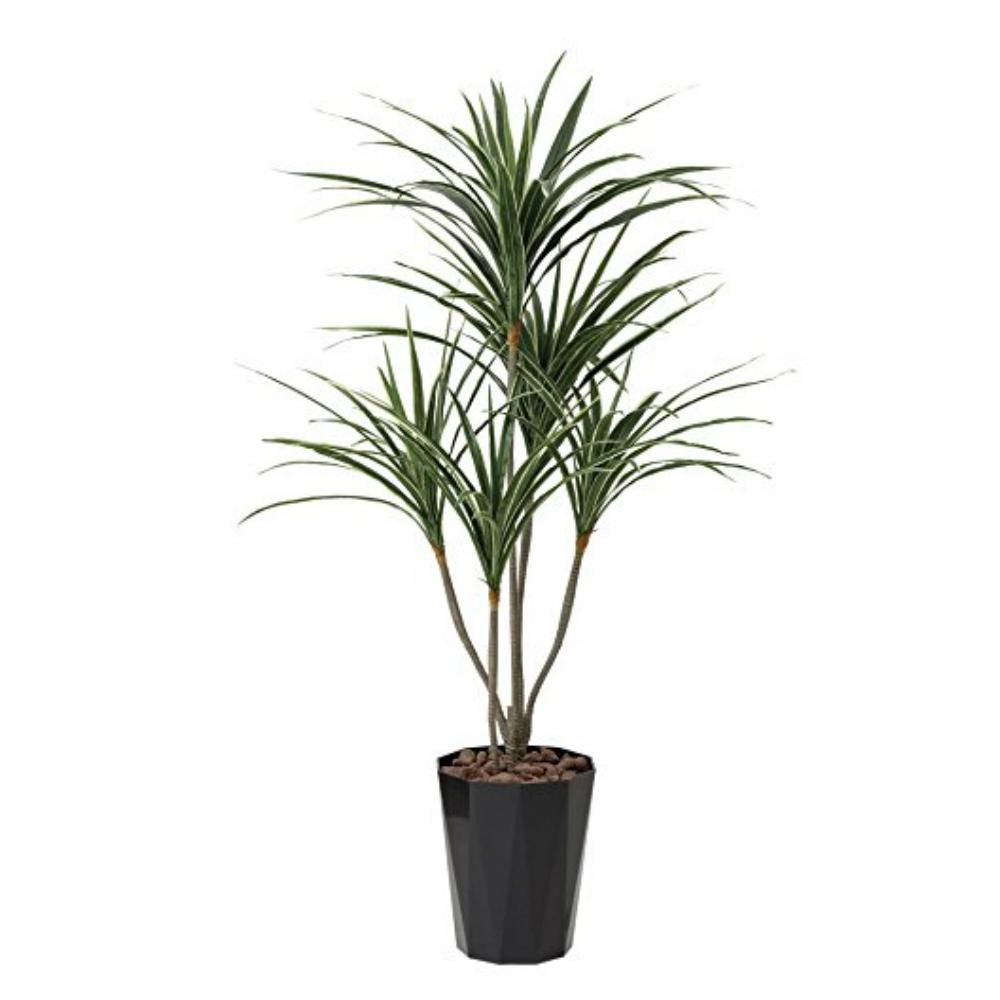 光触媒 人工観葉植物 造花(フェイクグリーン・フェイクフラワー)光の楽園 ユッカ1.35m 429A250お部屋の消臭・抗菌・防汚効果があります。水やり・お手入れ不要置くだけで素敵な癒し空間を演出約 幅65×奥行65×高さ135cm
