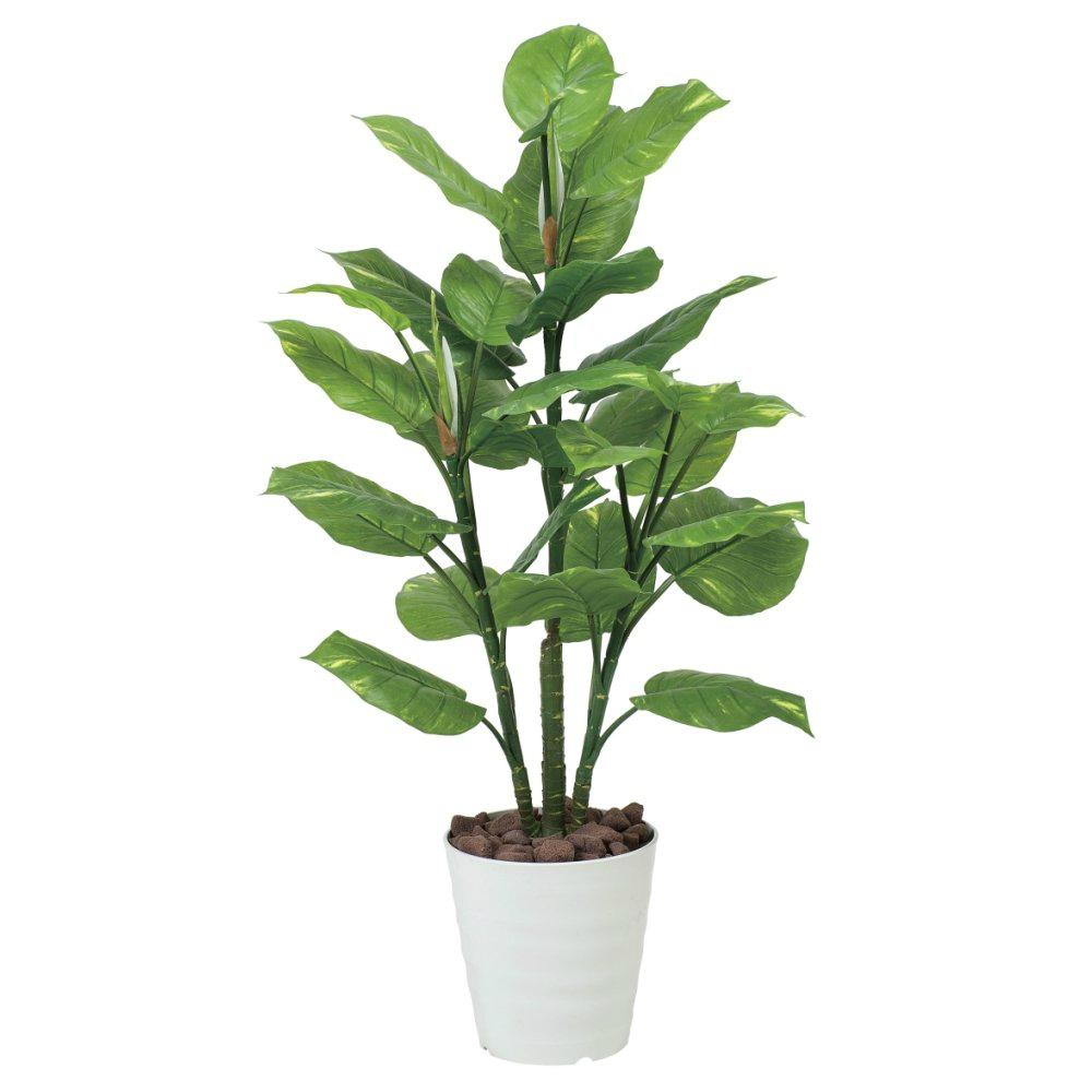 光触媒 人工観葉植物 造花 フェイクグリーン 光の楽園 フレッシュポトス 1.15m おしゃれ インテリア 大型 本物の葉のような質感 367A160