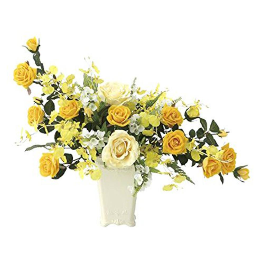 光触媒 光の楽園 ゴールドハニー 671A100約 幅59×奥行34×高さ47cm人工観葉植物 造花 フェイクグリーン フェイクフラワー フラワーアレンジメント おしゃれ インテリア 卓上