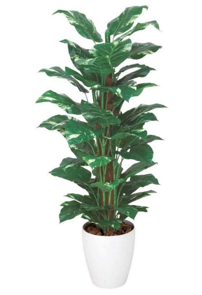 光触媒 人工観葉植物 造花 フェイクグリーン 光の楽園 スプリット 1.35m おしゃれ インテリア 大型 512A250