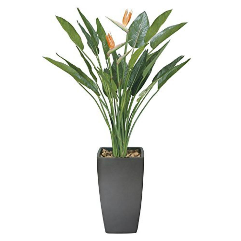 光触媒 人工観葉植物 造花 フェイクグリーン フェイクフラワー 光の楽園 アート ストレチア 花付 1.6m おしゃれ インテリア 大型 115E900