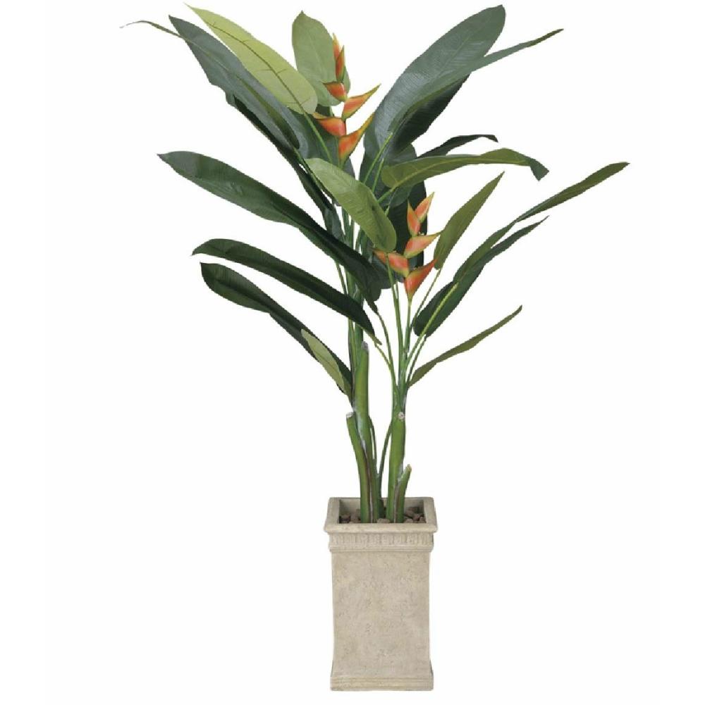 光触媒 人工観葉植物 造花 フェイクグリーン 光の楽園 ヘリコニア 2.0m おしゃれ インテリア 大型 123F850
