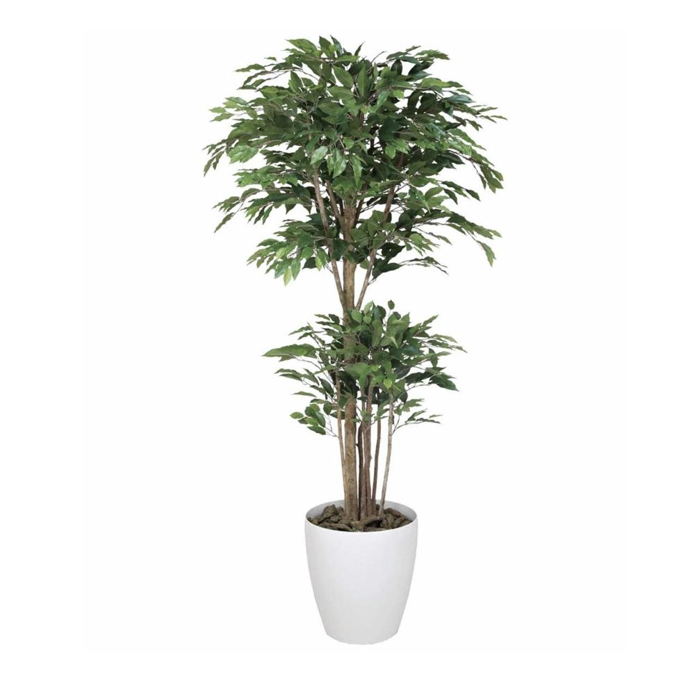 光触媒 光の楽園 トロピカルベンジャミン1.6 161E420約 幅70×奥行70×高さ160cm人工植物 造花 フェイクグリーン おしゃれ インテリア 大型