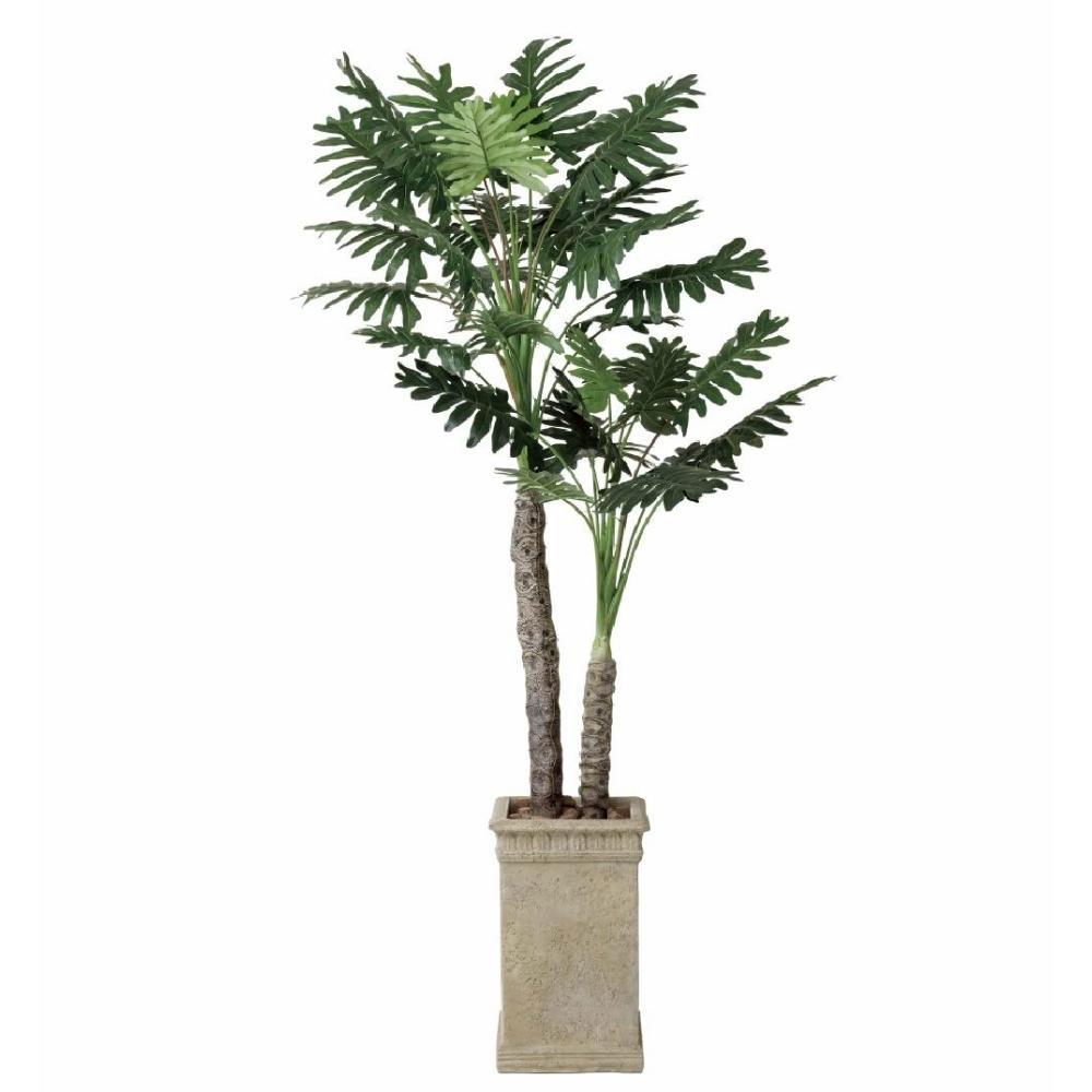 光触媒 人工観葉植物 造花 フェイクグリーン 光の楽園 セローム 2.0m おしゃれ インテリア 大型 415F600