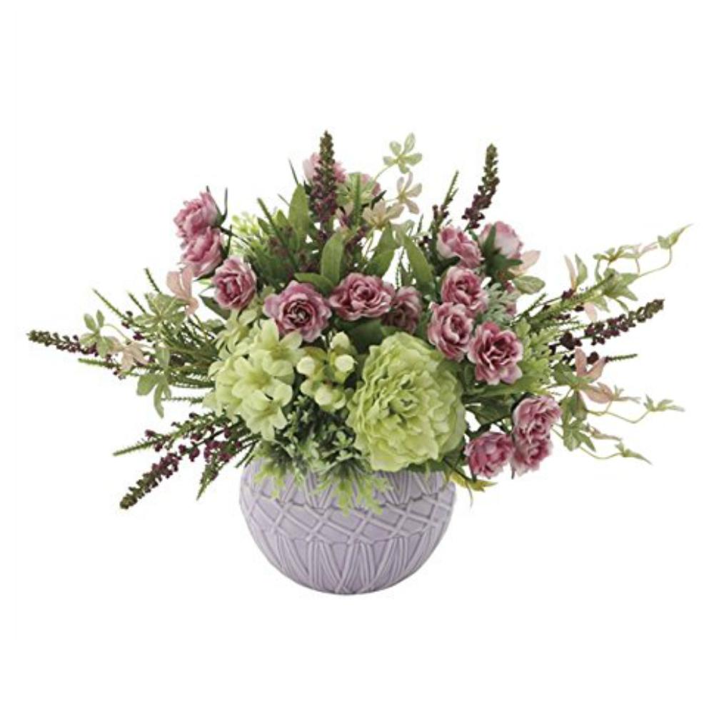 光触媒 人工観葉植物 造花(フェイクフラワー)光の楽園 アートフラワー マーブル 750A65お部屋の消臭・抗菌・防汚効果があります。水やり・お手入れ不要置くだけで素敵な癒し空間約 幅36×奥行22×高さ28cm