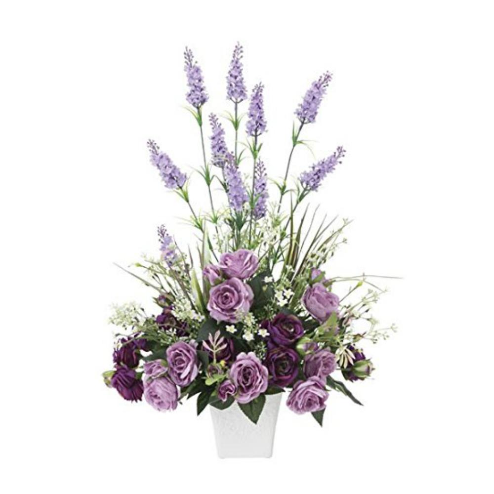 光触媒 人工観葉植物 造花(フェイクフラワー)光の楽園 アートフラワー ソフィアラベンダー 842A90お部屋の消臭・抗菌・防汚効果があります。水やり・お手入れ不要置くだけで素敵な癒し空間約 幅33×奥行30×高さ54cm