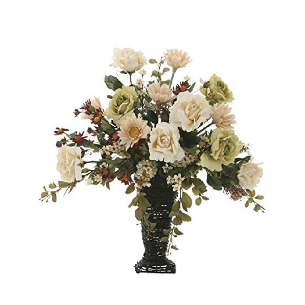 光触媒 人工観葉植物 造花(フェイクフラワー)光の楽園 アートフラワー グレースアースカラー 744A180お部屋の消臭・抗菌・防汚効果があります。水やり・お手入れ不要置くだけで素敵な癒し空間約 幅60×奥行36×高さ65cm