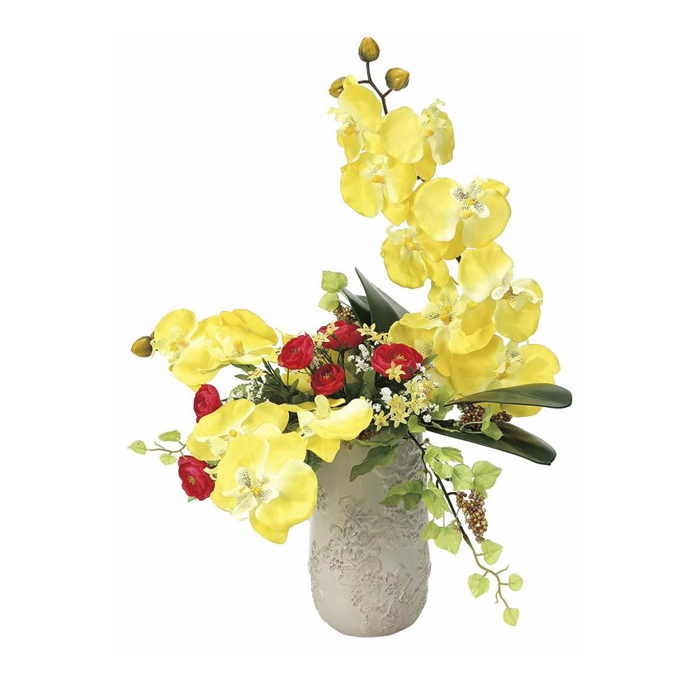 光触媒 人工観葉植物 造花(フェイクフラワー)光の楽園 アートフラワー サンマリノ 922A100お部屋の消臭・抗菌・防汚効果があります。水やり・お手入れ不要置くだけで素敵な癒し空間約 幅42×奥行35×高さ59cm