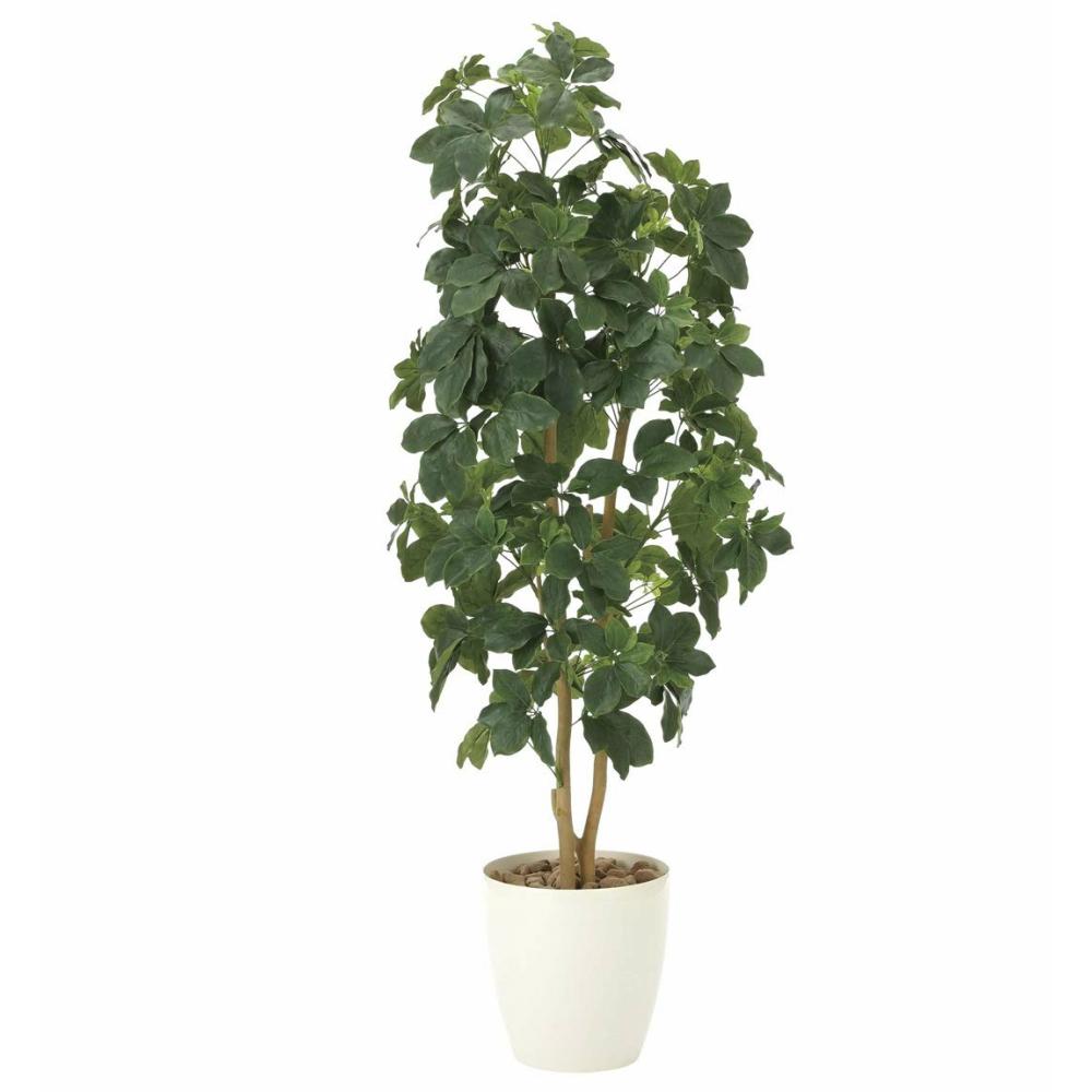 光触媒 人工観葉植物 造花(フェイクグリーン・フェイクフラワー)光の楽園 シェフレラ 1.6m 905A340お部屋の消臭・抗菌・防汚効果があります。水やり・お手入れ不要置くだけで素敵な癒し空間を演出約 幅55×奥行50×高さ160cm