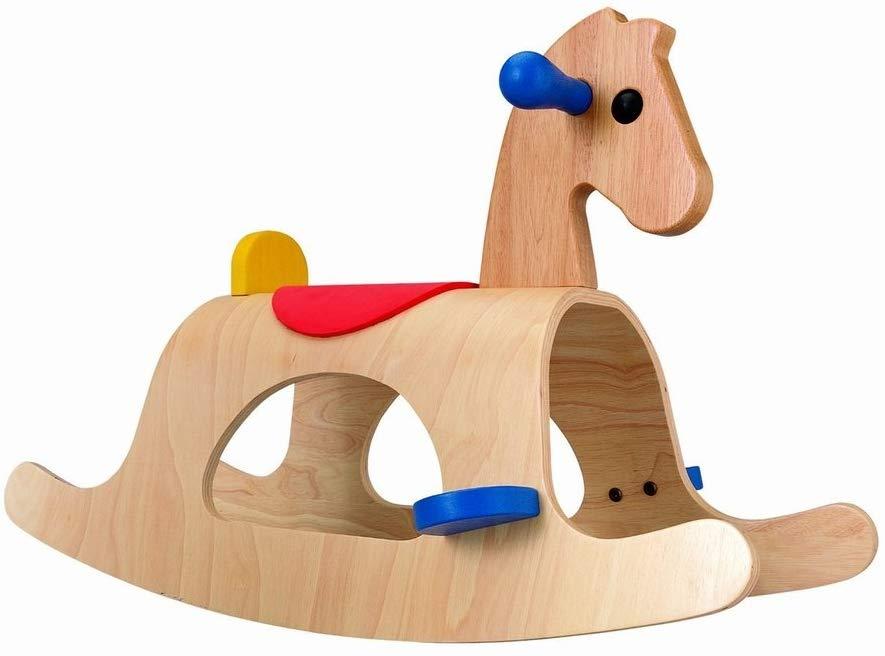 PLANTOYS 3403 パロミノデザインと品質に優れた 環境に優しい 木のおもちゃサドルがあり、平行なロッカー式で、前後に揺らしながらバランスを取って楽しめます。商品サイズ:33.5×72.0×46.0cm対象性別 :男女共用対象年齢 :2~5歳
