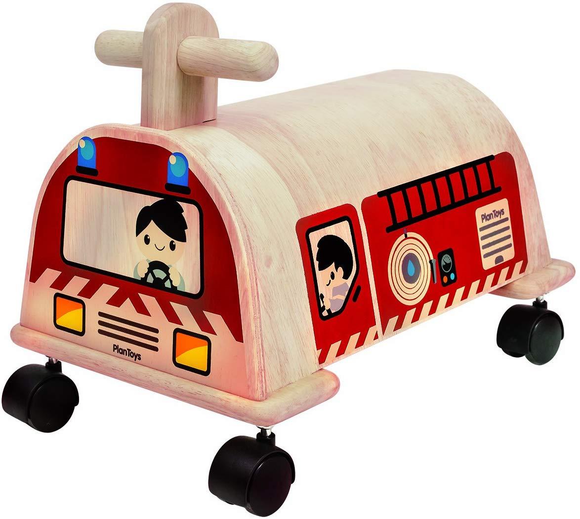 PLANTOYS 3474 乗用消防車デザインと品質に優れた 環境に優しい 木のおもちゃ消防車がテーマの乗用玩具です。商品サイズ:24.9x30.5x38.1cm対象性別 :男女共用対象年齢 :1歳から
