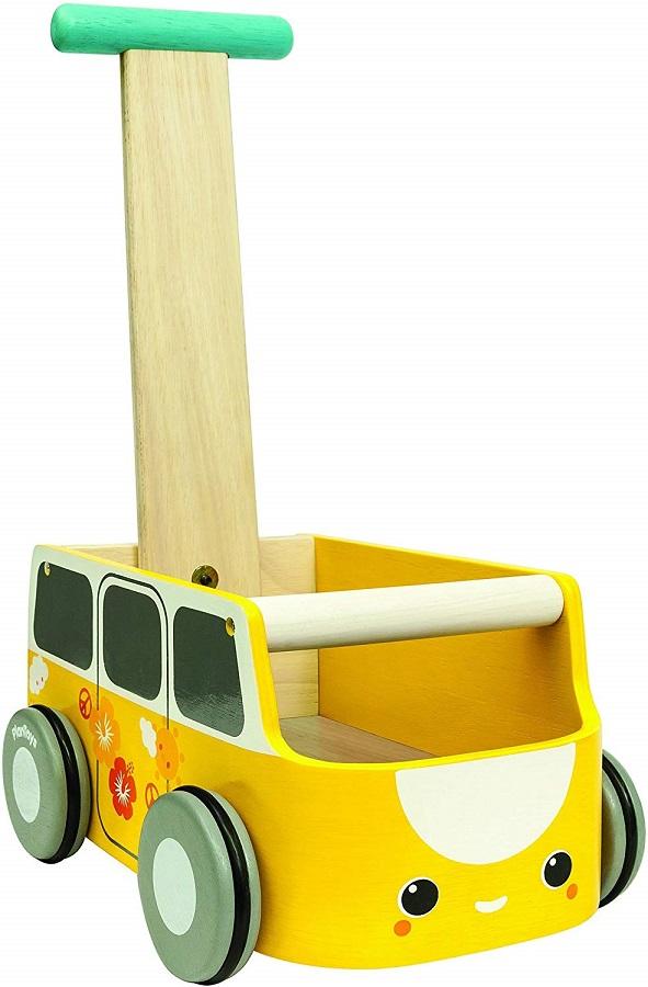 PLANTOYS 5184 バンウォーカー イエローデザインと品質に優れた 環境に優しい 木のおもちゃ手押し車には、小さなおもちゃを入れることが出来ます。ブレーキ機能付き。商品サイズ:20.5×30.0×45.8cm対象性別 :男女共用対象年齢 :10ケ月から