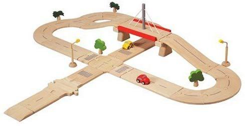 PLANTOYS 6078 ロードシステム デラックス道路、車、街路灯、街路樹のセットです。(全38ピース)本体サイズ :94.5×84×18cm対象性別 :男女共用対象年齢 :3歳から
