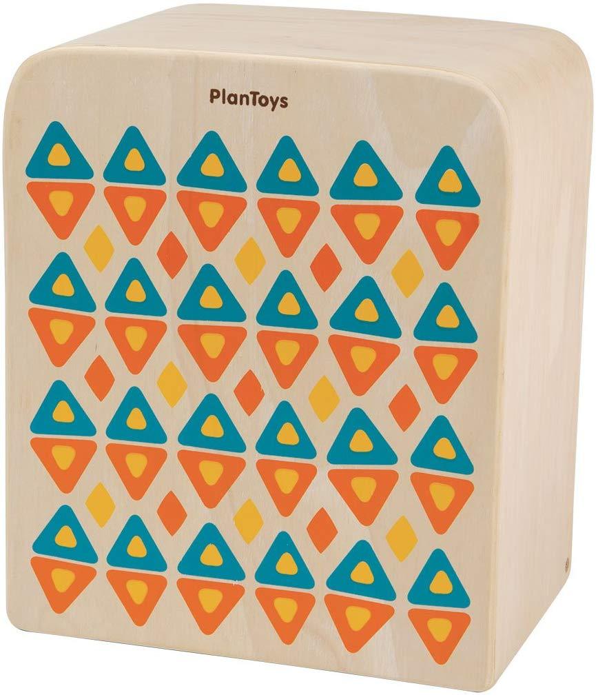 PLANTOYS 6424 カホンデザインと品質に優れた 環境に優しい 木のおもちゃリズムボックスでリズムとテンポを刻んで、楽しみましょう。商品サイズ:23.1x17.5x27.4cm対象性別 :男女共用対象年齢 :3歳から