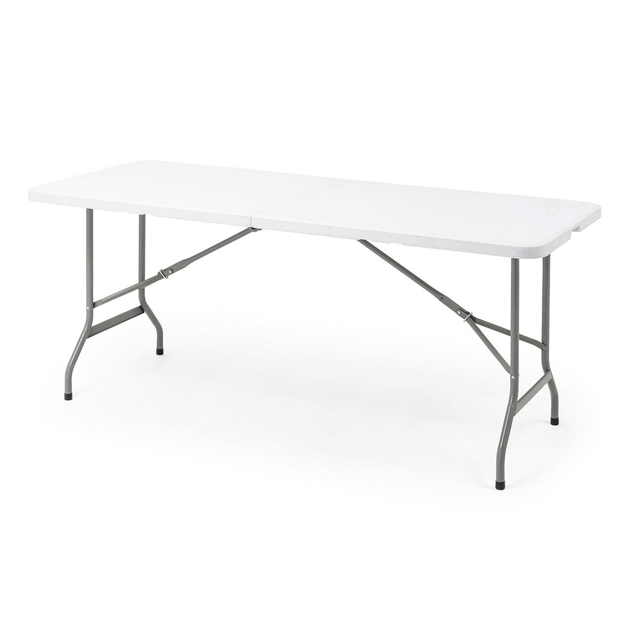 折り畳みデスク フォールディングテーブル 会議机 折りたたみテーブル 幅180cm 新作 樹脂天板 購買 奥行74cm 100-FD016W ホワイト 取っ手付き
