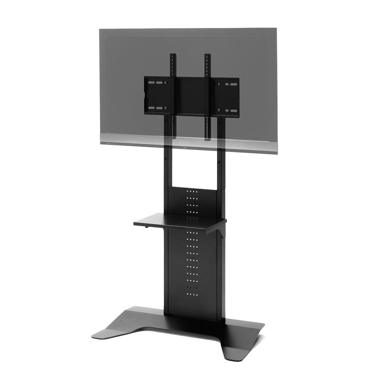 壁寄せテレビスタンド(32型/40型/43型/49型/50型/52型/55型/58型/60型/65型対応・汎用タイプ・5段階高さ調整) [100-PL017BK]