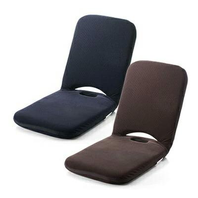 折りたたみ 座椅子 14段階 リクライニング  マイクロファイバー生地 こたつ座椅子 ブラウン・ネイビー 持ち手付き コンパクト [150-SNCF003]