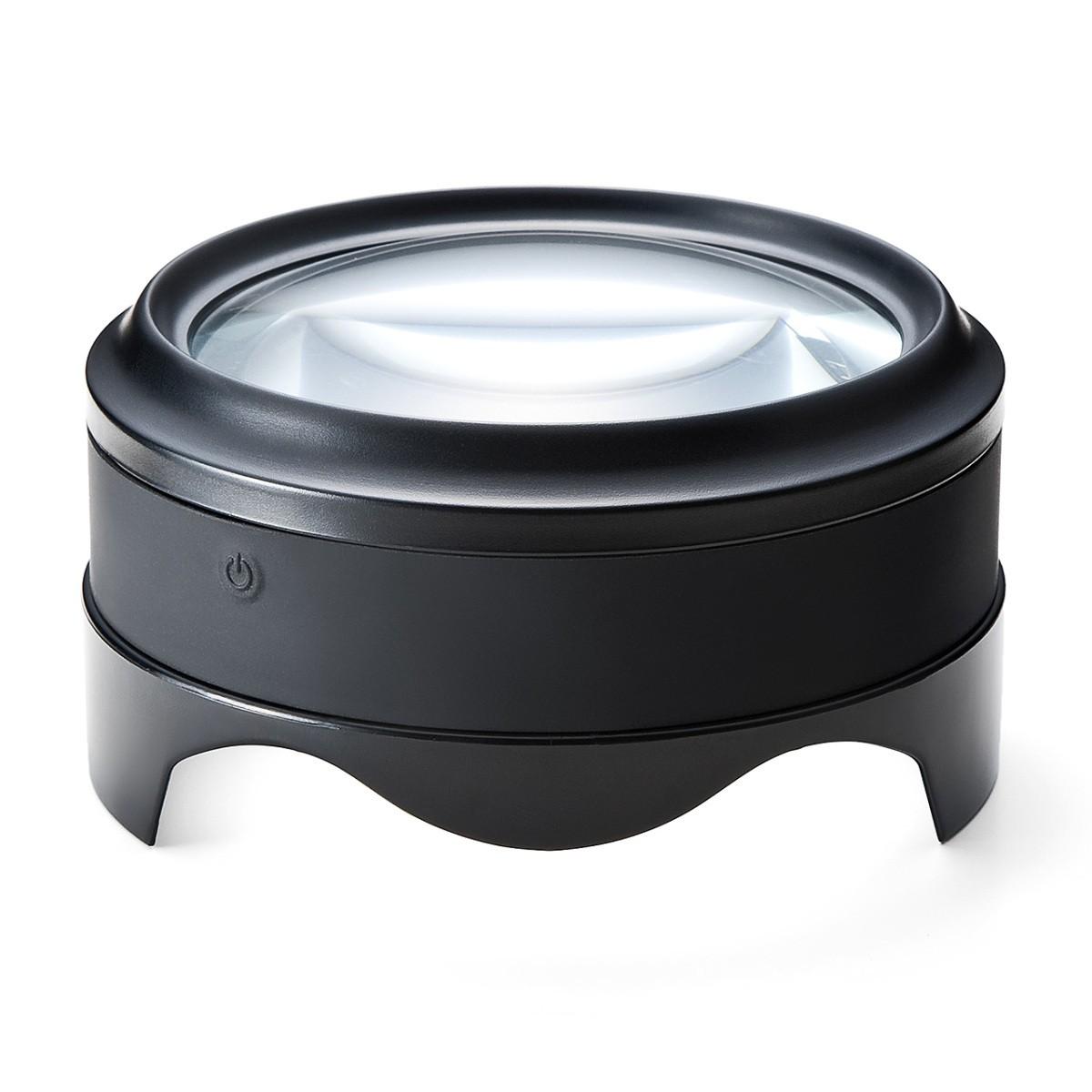 拡大鏡 デスクルーペ 拡大率5倍 返品送料無料 USB充電式 明るく照らすLEDライト付き 毎日激安特売で 営業中です