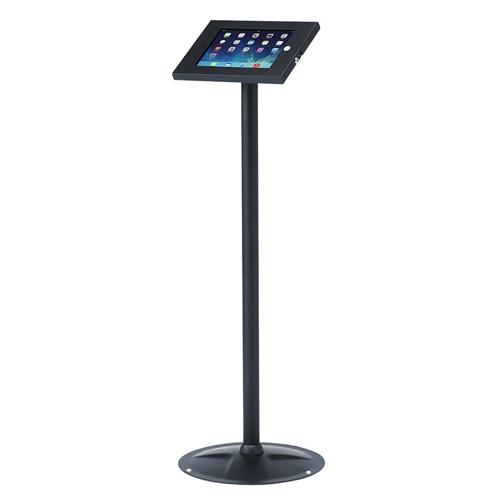 iPad フロアスタンド セキュリティボックス付き モニタアーム タブレットアーム[CR-LASTIP13]