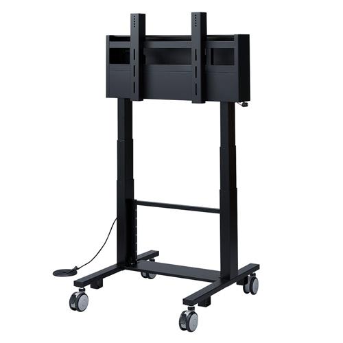 電動昇降 液晶テレビスタンド 60~84型対応 高耐荷重 90kg [CR-PL24BK]