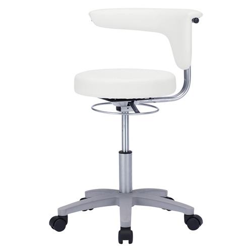 【送料無料】メディカルスツール ホワイト 抗菌 耐アルコール ビニールレザー 丸椅子 [SNC-HP3VW2]