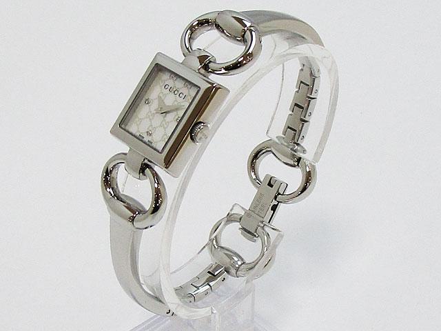 【グッチ】GUCCI 腕時計 120 レディースクォーツ 3PダイヤYA120517【新品】