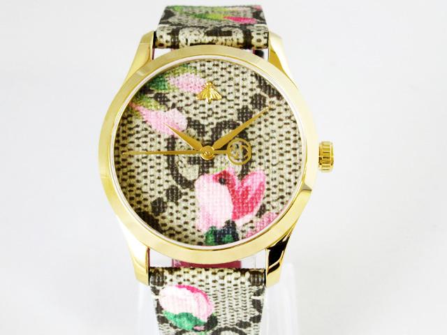【グッチ】GUCCI 腕時計 Gタイムレス GGブルームズ ユニセックス クォーツ ★ YA1264038A 【新品】