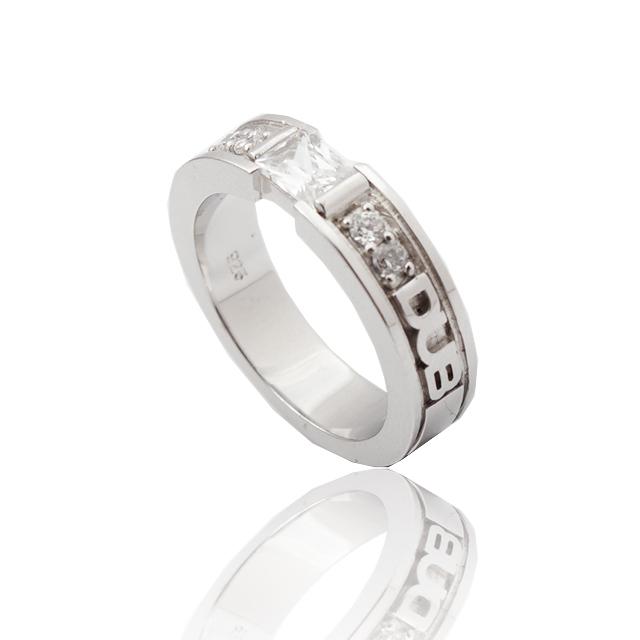 【DUB collection/ダブコレクション】Chic Bar ring(lady's) DUBj-155-1(WH) 13号【レディース】