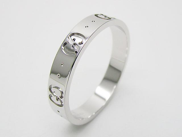 グッチ(GUCCI) リング 指輪 アクセサリー GGアイコンスィンバンドリング ホワイトゴールド 073230 K18WG【新品】