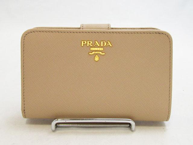 プラダ (PRADA) 二つ折り財布 1ML225 SAFFIANOMETAL CAMMEO【新品】