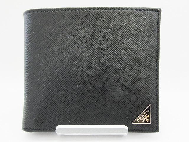 プラダ (PRADA) 二つ折り財布 ★2MO738 SAFFIANO TRIANG NERO【新品】