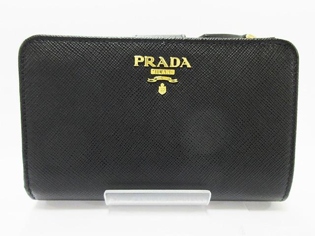 1ac2eb3a7b03 プラダ (PRADA) 二つ折り財布 型押しカーフスキン☆1ML225 002 NERO【新品】 QWA-レディース財布