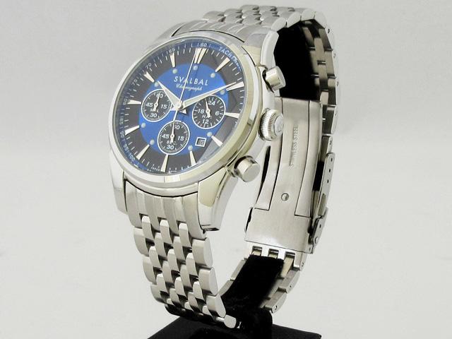 スバルバル(SVALBAL)腕時計 メンズ クォーツ クロノグラフ ★ SV11-MBL【新品】