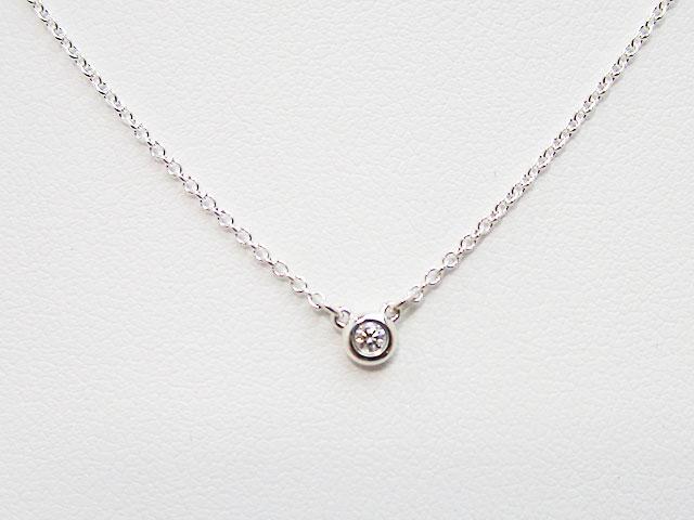 【ティファニー】バイザヤード ネックレス ダイヤモンド 0.03ct シルバー ★24944387【新品】