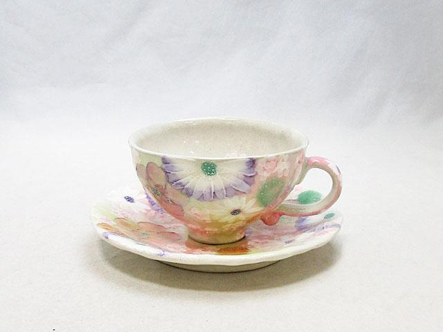 【ゆずりは】一珍小花紋 コーヒー碗皿 45582