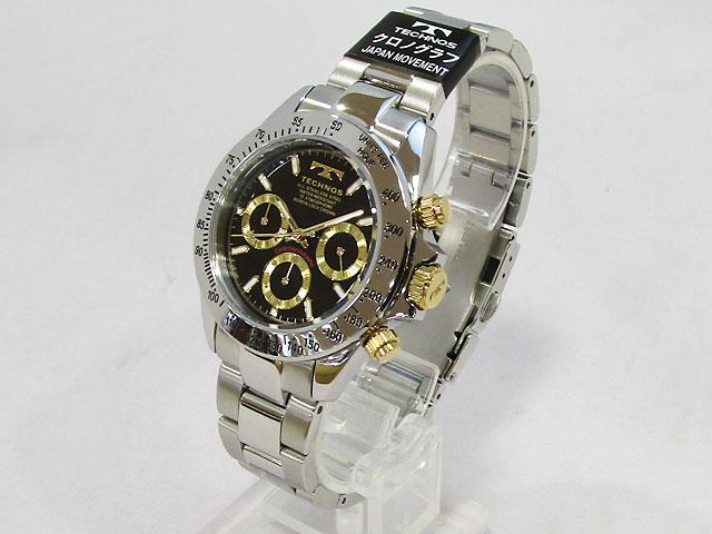 【テクノス】腕時計 クロノグラフ メンズ クォーツ TSM401LB【新品】