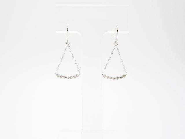 K18ホワイトゴールド ダイヤモンド0.16ct ピアス 品番100015【新品】