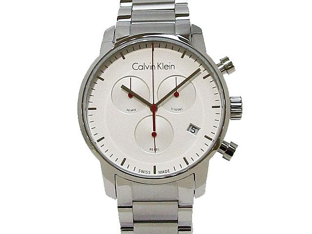 【カルバンクライン】Calvin Klein 腕時計 メンズ クォーツ シティ クロノグラフ スイス製K2G271.Z6【新品】