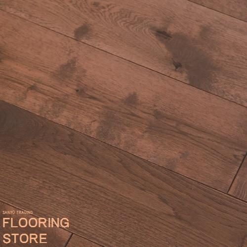 【 オーク 】 ユーロオーク アンティーク ガンストック 巾 150mm ×厚さ 18mm×長さ 乱尺(300~1500)mm ☆ レトロ 調 ホワイトオーク 【 送料無料 】 フローリング 床材 フローリング材 床