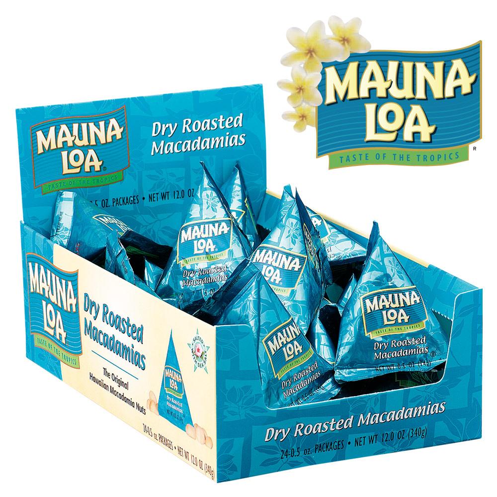 Hawaii souvenirs | Mauna Loa macadamia nuts salt mini 24 bag set