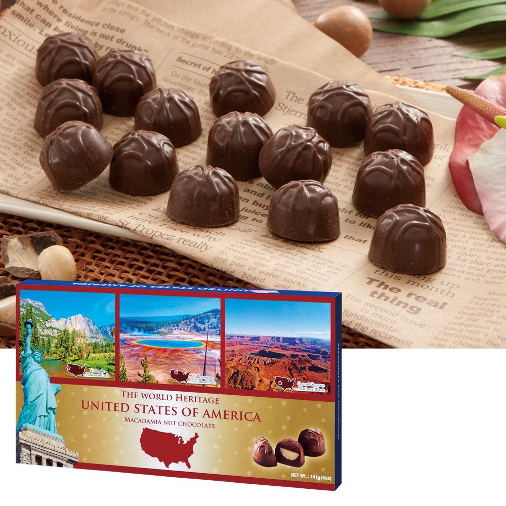 [5400円以上で送料無料] アメリカお土産 | アメリカ世界遺産チョコレート 1箱【192001】