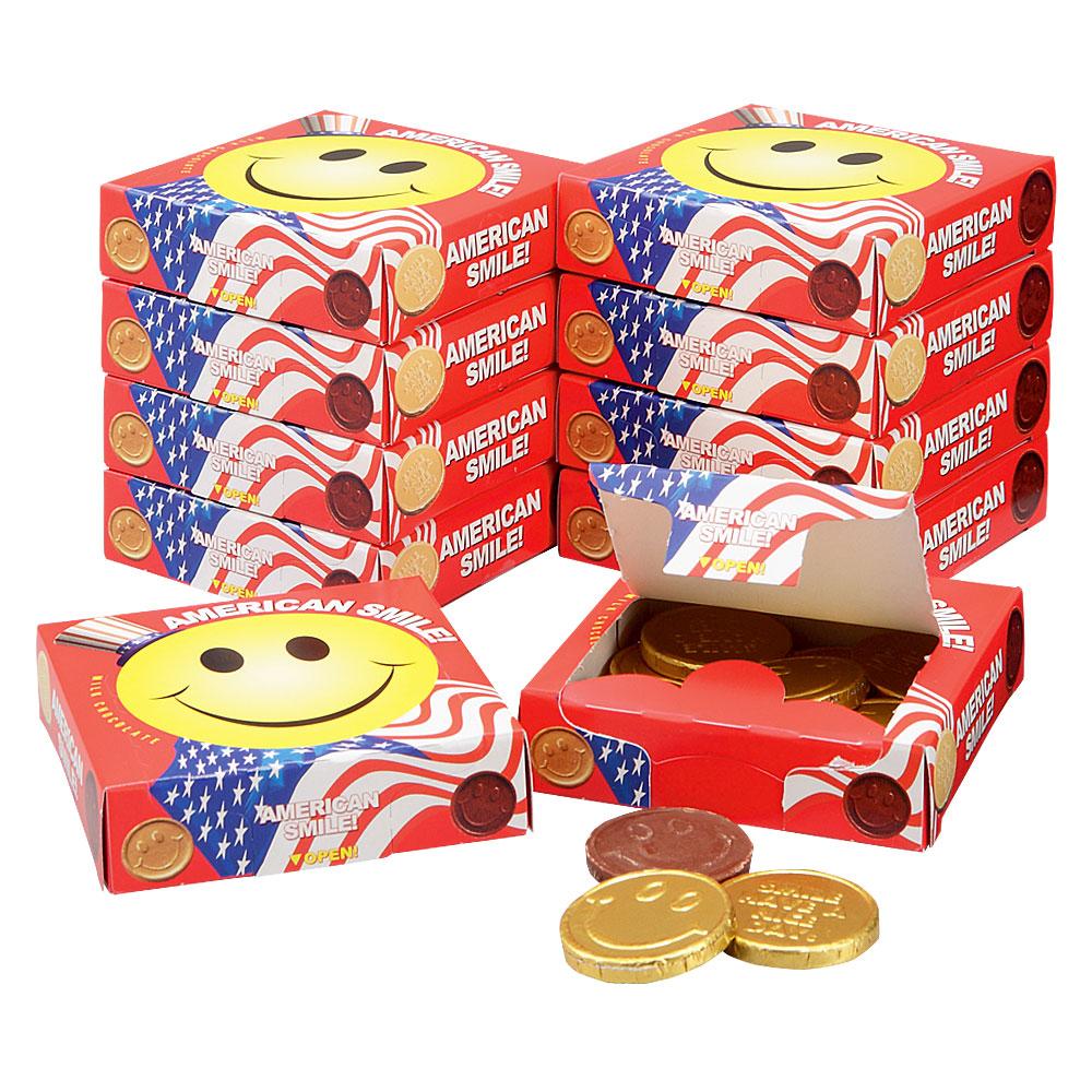 [5400円以上で送料無料] アメリカお土産 | アメリカン スマイルチョコレート 10箱セット【192018】
