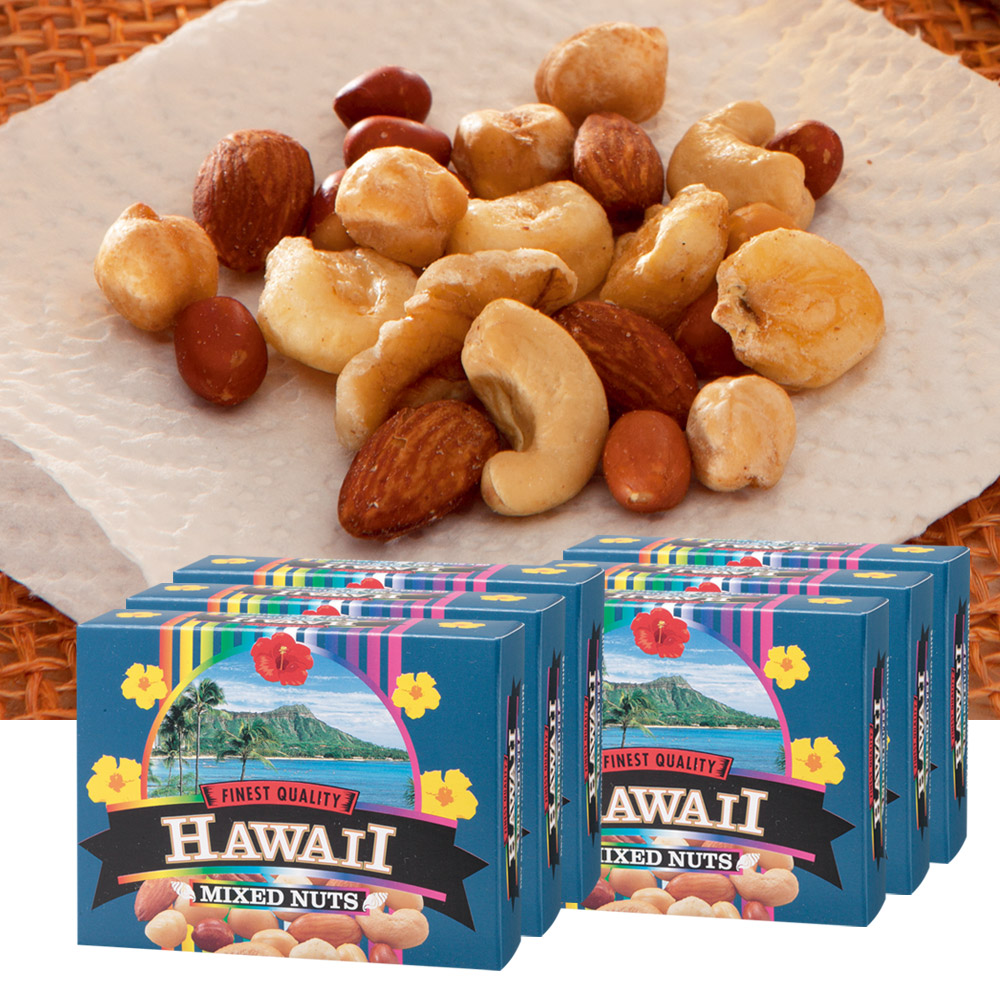 Hawaii souvenirs | Hawaii mixed nuts 6 box set (Hawaii Hawaiian gift Hawaii and gifts) 10P07Nov15