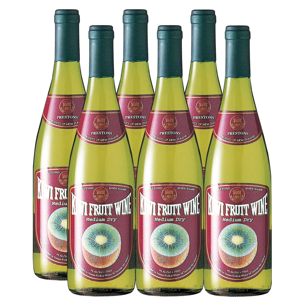 [送料無料]ニュージーランドお土産 | キウイフルーツワイン 6本セット【R85013】
